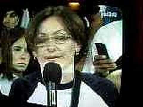 Oscar Yanes, en apoyo a RCTV. SIN VIOLENCIA!!