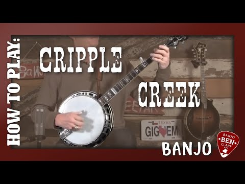 Banjo tablature for cripple creek
