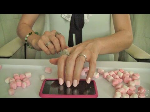 ASMR * Tapping & Scratching * Theme: Cotton Candy & Green Apple * Fast Tapping * No Talking