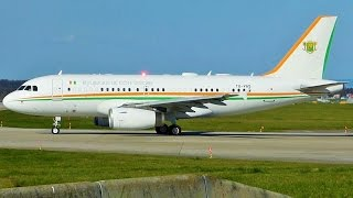 [FullHD] Ivory Coast Government Airbus A319(CJ) takeoff at Geneva/GVA/LSGG