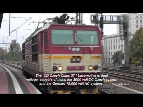 (HD) Engine Change for International Service at Dresden: Germany to Czech Republic