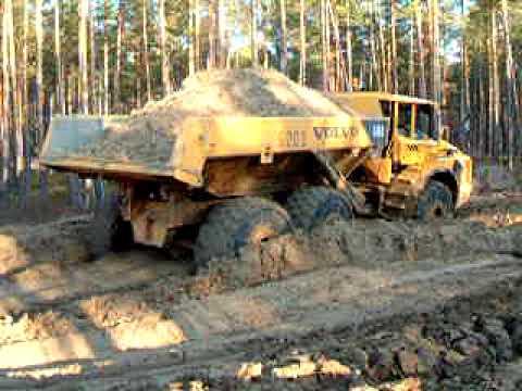 Russian roads Swedish dumper