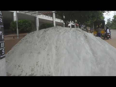 granite/rock sand used in construction of buildings in bangalore (india)