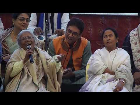 "Sandhya Mukhopadhyay Live Singing - ""Ghum Ghum Chand...""    Bangla Sangeet Mela"