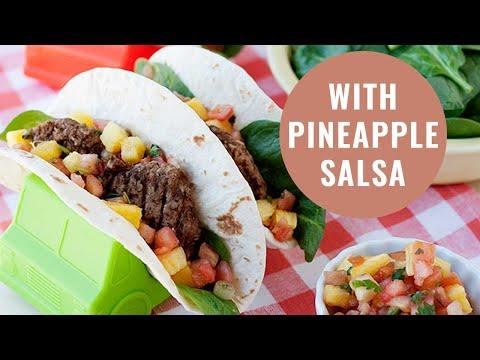 Breakfast Sausage and Pineapple Salsa Tacos | Week 24 Taco Tuesday Cookbook