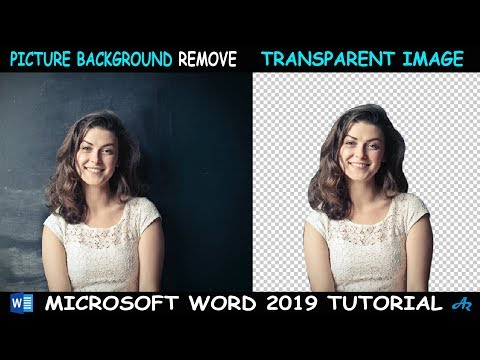 MS Word Tutorial: How to Remove Picture Background MS Word 2019| Transparent Image Background AR