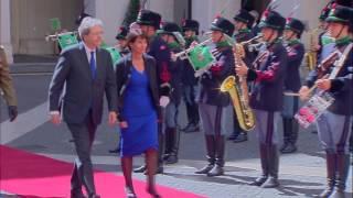 La Presidente della Confederazione Svizzera Doris Leuthard a Palazzo Chigi