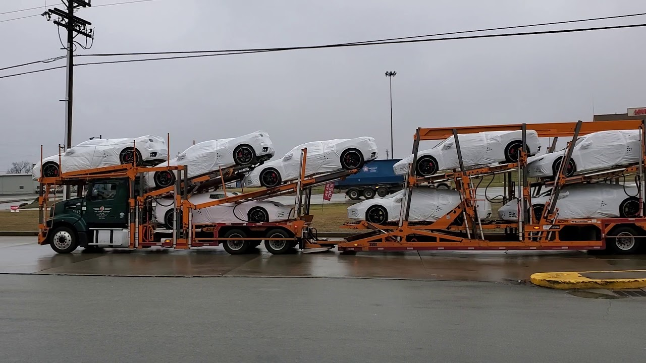 C8 Mid Engine Corvette delivery trucks spotted!!