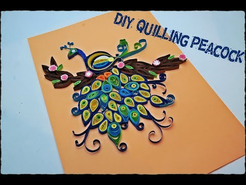 How to make Quilling Peacock - DIY Quilling Peacock tutorial