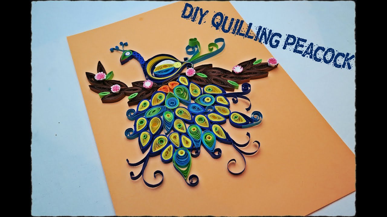 How to make Quilling Peacock , DIY Quilling Peacock tutorial