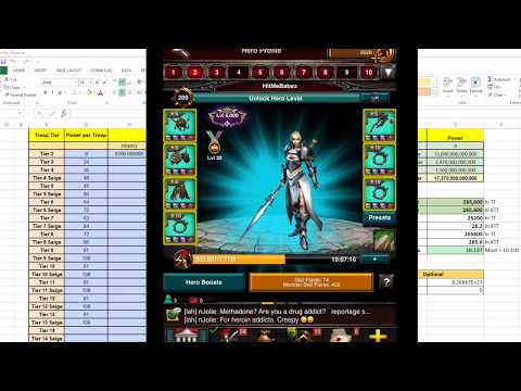 Game Of War: Learning and Understand Nerf - How Critical Nerf Spreadsheet being Used