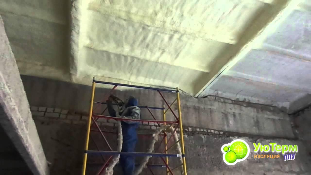 Утепление стен и потолка гаража видео
