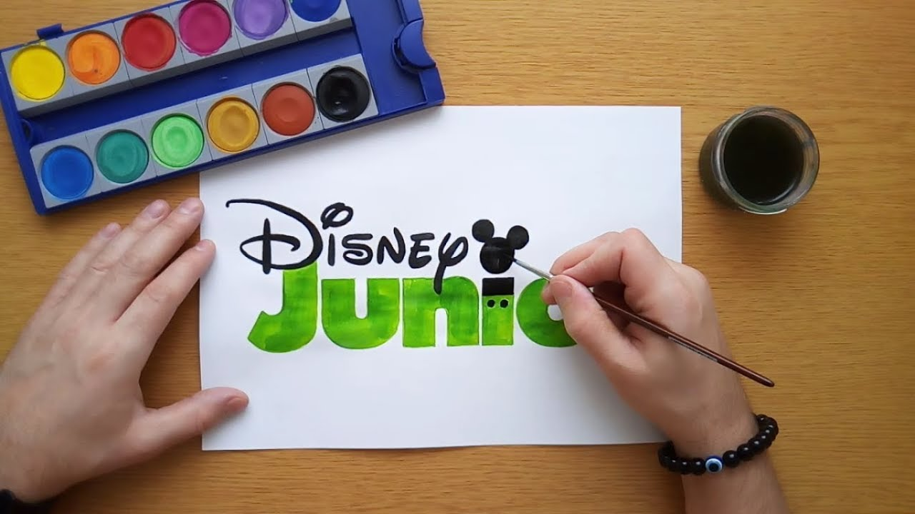 How to draw a green Disney Junior logo (coloring pages ...