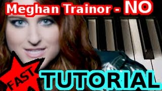 MEGHAN TRAINOR - NO - Piano Tutorial Video (Learn Online Piano Lessons)