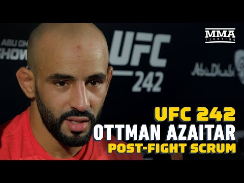 UFC 242: Ottman Azaitar Says How Crowd Helped Him Before Brutal KO - MMA Fighting