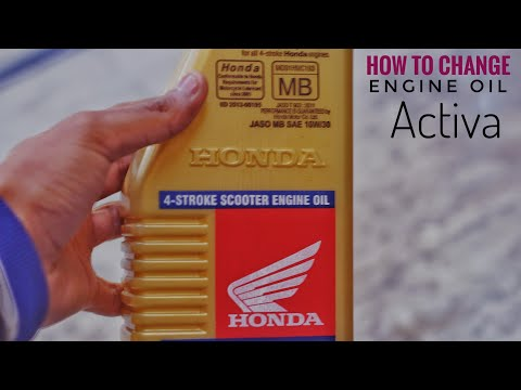 ENGINE OIL KAISE CHANGE KARE || honda oil ||activa 110 cc