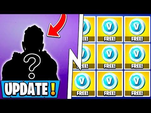 *NEW* Fortnite Update!   2000 Free Vbucks, $300 Rare Skin, 9.10 Changes!