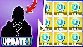 *NEW* Fortnite Update! | 2000 Free Vbucks, $300 Rare Skin, 9.10 Changes!