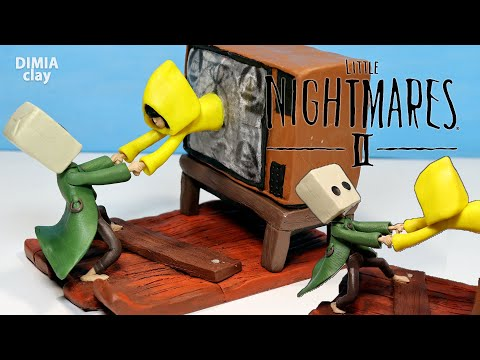 MONO and SIX from the game Little Nightmares 2 (Diorama) | Sculpting figurines from plasticine |