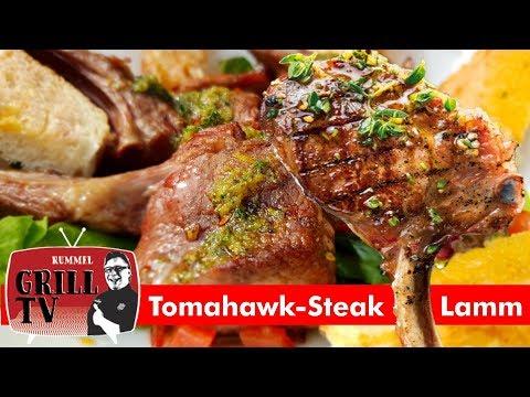 Tomahawk- Steak vom Lamm