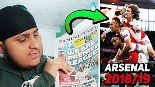 Using A PANINI Sticker Book To REVIEW Arsenal's 2018/19 Season!