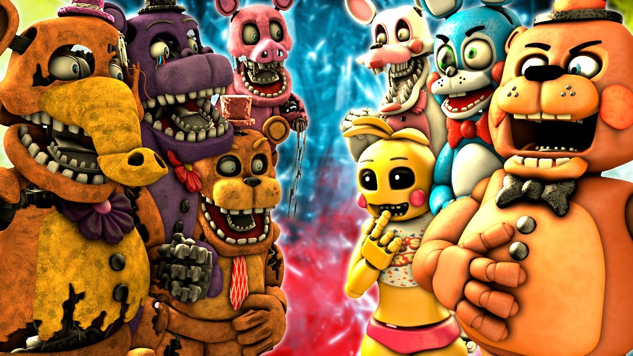 [SFM FNaF] Toys vs Withered Melodies
