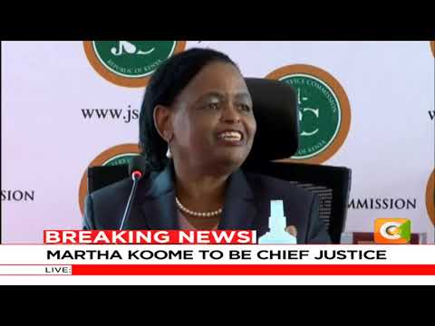 This Lady Justice Martha Koome