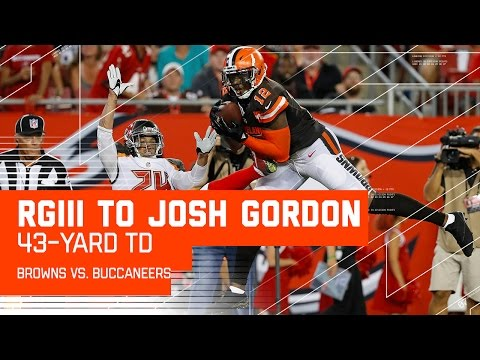 RGIII Throws Huge TD Bomb to Josh Gordon! | Browns vs. Buccaneers (Preseason) | NFL