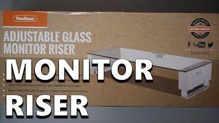 VonHaus Adjustable Glass Monitor Riser