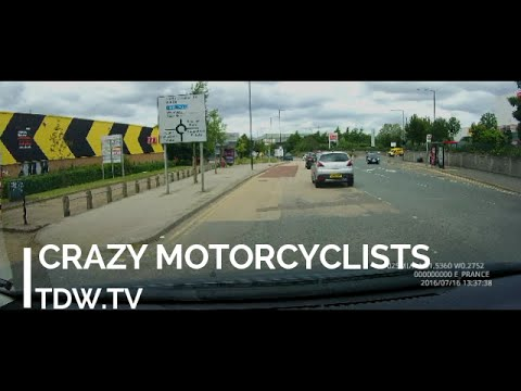 Crazy Motorcyclists Stunts London - A406 Abbey Road thumbnail
