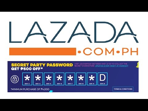 Lazada Secret Birthday Party Password. P500 Off From March 21-23, 2017 New Voucher Code Inside.