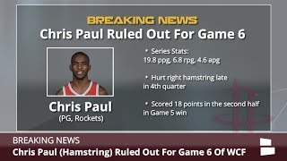 Chris Paul Injury: Houston Rockets PG To Miss Game 6 Vs. Golden State Warriors