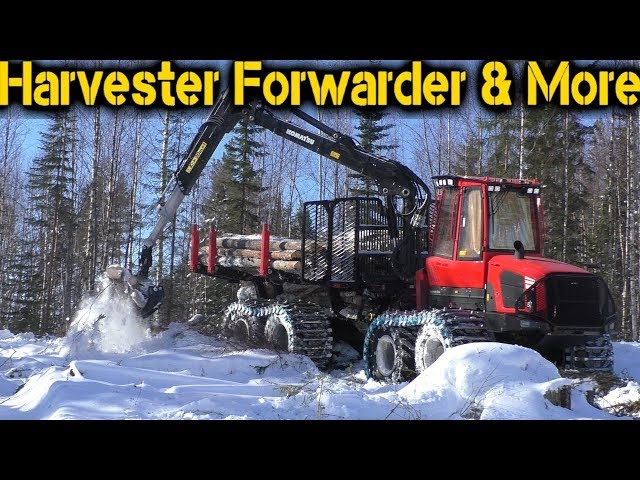 Komatsu 895 Forwarder | 2018 Model | Clearfell in Sweden