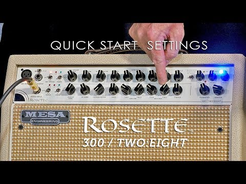 MESA/Boogie Rosette™ 300 / Two:Eight Combo - Quick Start Settings