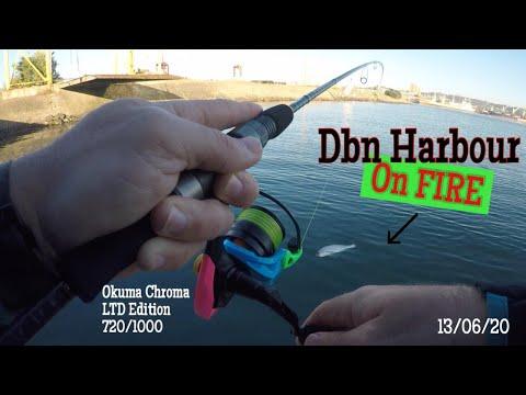 Durban Harbour On Fire!!! Spinning With My Ltd Edition Okuma Chroma. (South Africa,KZN)