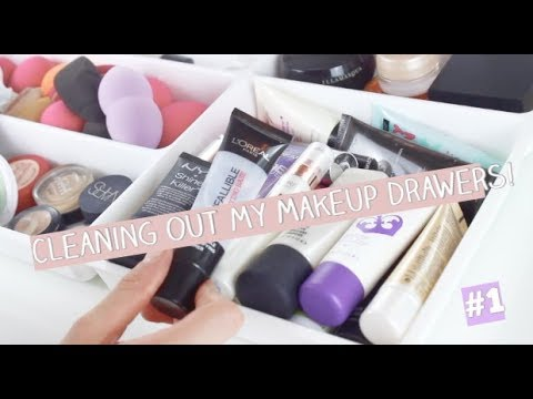 #1 CLEANING OUT MY IKEA DRAWERS! MAKEUP STORAGE & ORGANISATION