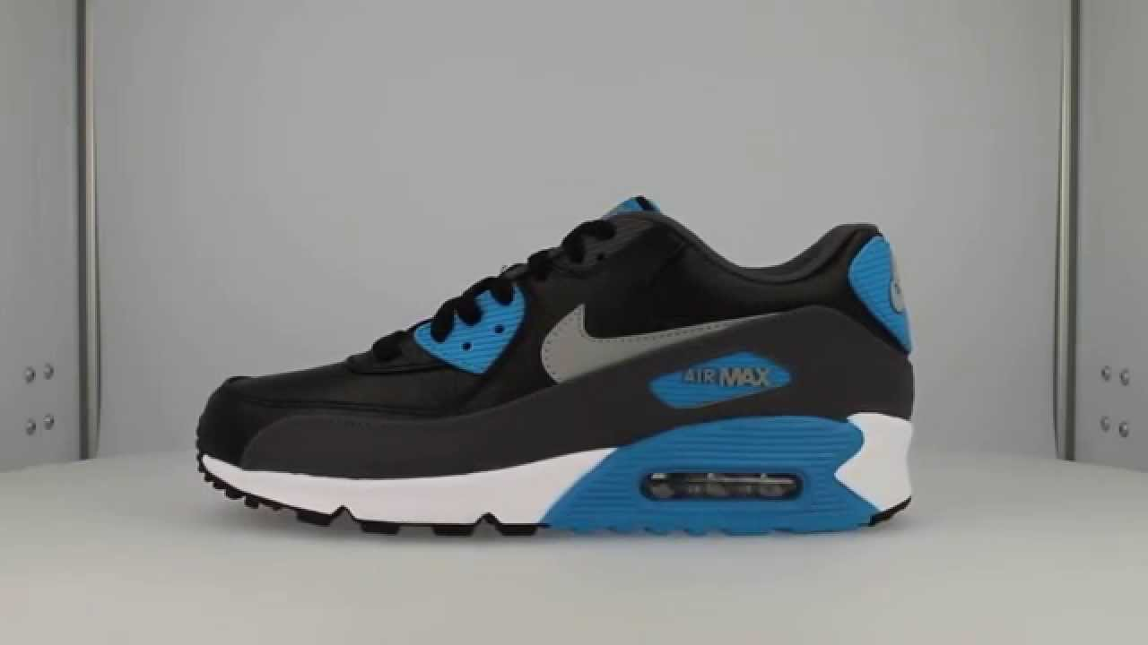 a127565ae9d 652980 004 | Nike Air Max 90 Leather Black Blue | Sneakersenzo - YouTube