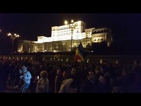 Protest in front of the Parliament and Justice Minister in Bucharest