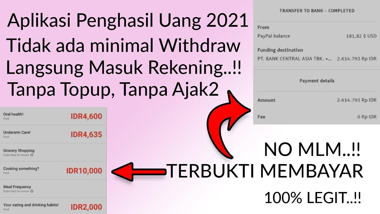 APLIKASI PENGHASIL UANG PALING MUDAH 2021 LEGIT, | NO MLM NO AJAK KAWAN NO TOPUP