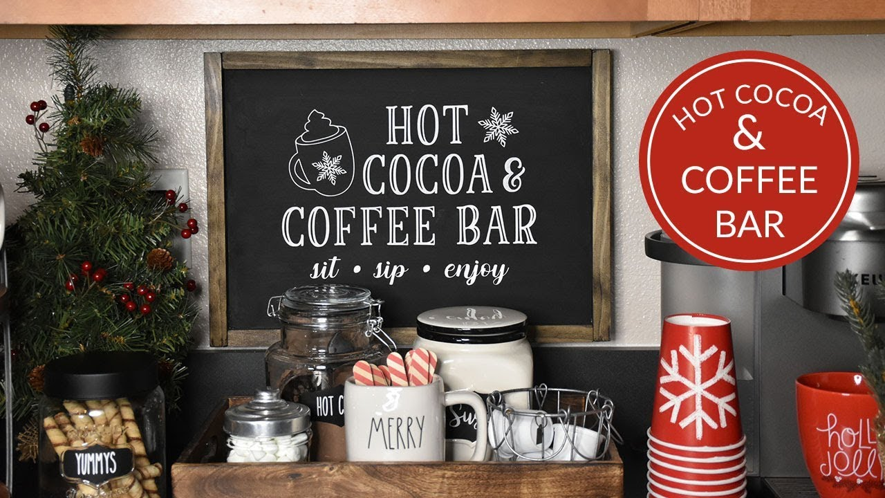 Utube 2021 Christmas Coffee Cicoa Bar Easy Hot Cocoa Bar Coffee Bar Simply Dovie Youtube