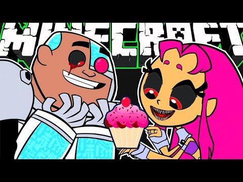 Minecraft | Evil Teen Titans GO! - Baking With Starfire