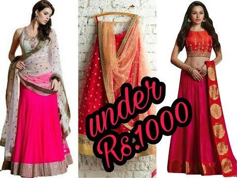 Designer Lehenga Under Rs.1000 Only/ Watch Beautiful Lehanga Ideas....