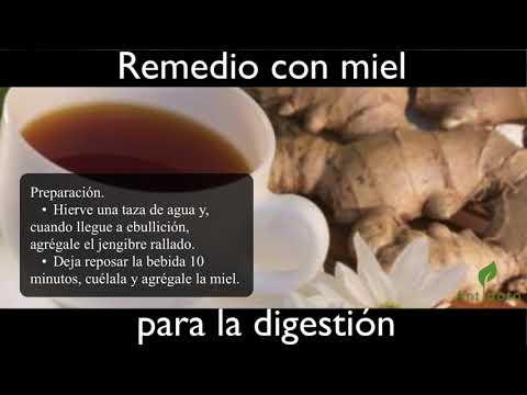 Remedio con miel para la digestio?n