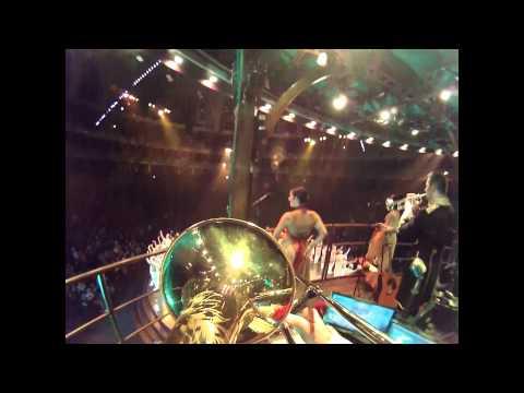 Bows - trombone bell cam - Cirque du Soleil Kooza