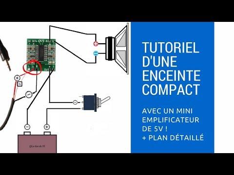 Fabriquer une enceinte avec un mini emplificateur de 5v - Le duo du 35