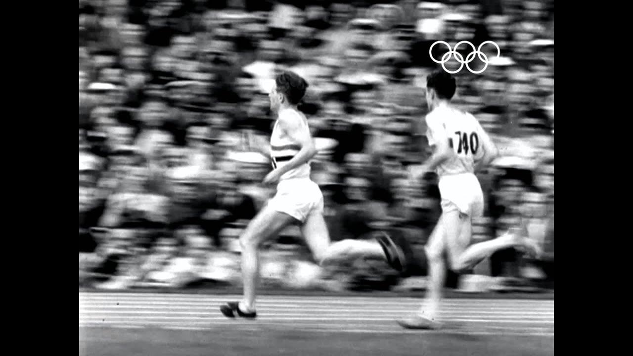 zatopek wins olympic 10 000m u0026 5 000m double gold helsinki 1952