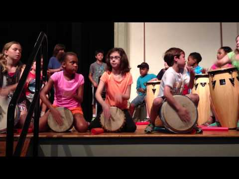 Germantown Friends School Lower School Instrumental Assembly World Percussion Ensemble