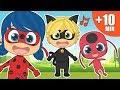Canciones Infantiles Con Ladybug 🐞 Cinco Bebes , Familia Dedo Y Más | Aprende Cantando Y Bailando