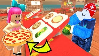 Roblox: I GOT A JOB AT A PIZZA PLACE!!!