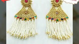 Latest Pearl Earrings Jewellery Collection Video By MJ Imitation April 2018